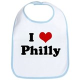 I Love Philly Bib