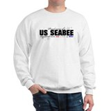 Red, white &amp; blue Seabee Mom Sweater