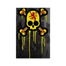 Scottish Punk Skull Rectangle Magnet