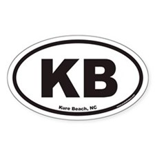 Kure Beach KB Euro Oval Decal