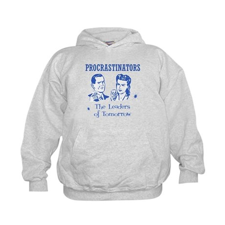 Procrastinators: Leaders of T Kids Hoodie