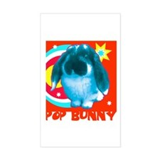 Pop Bunny Rectangle Decal