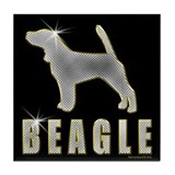 Bling Beagle Tile Coaster