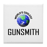World's Coolest GUNSMITH Tile Coaster
