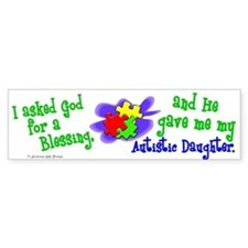 Blessing 2 (Autistic Daughter) Bumper Bumper Sticker
