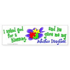 Blessing 2 (Autistic Daughter) Bumper Car Sticker
