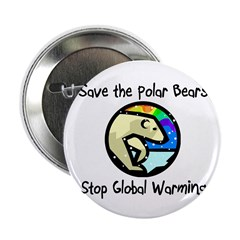 "Save the Polar Bears 2.25"" Button (10 pack)"