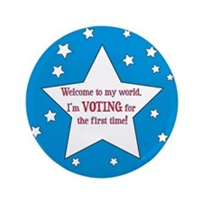 "First Time Voter 3.5"" Button"