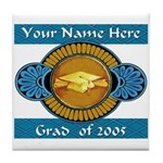 College Grad Personalized Tile Coaster
