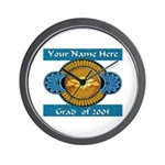 College Grad Personalized Wall Clock