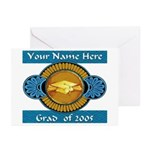 College Grad Personalized Greeting Cards (Package