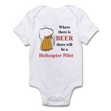 Helicopter Pilot Infant Bodysuit
