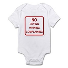 No Crying Sign Infant Bodysuit