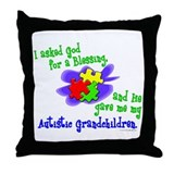 Blessing 2 (Autistic Grandchildren) Throw Pillow