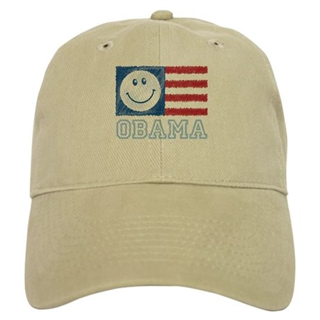 Obama Smiley Flag Cap
