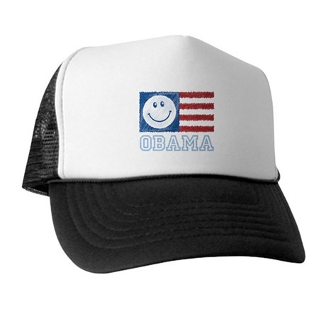 Obama Smiley Flag Trucker Hat