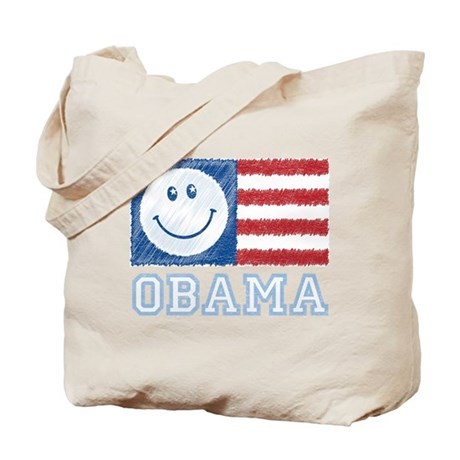 Obama Smiley Flag Tote Bag