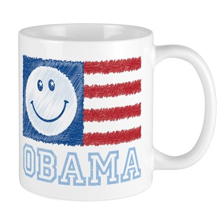 Obama Smiley Flag Mug
