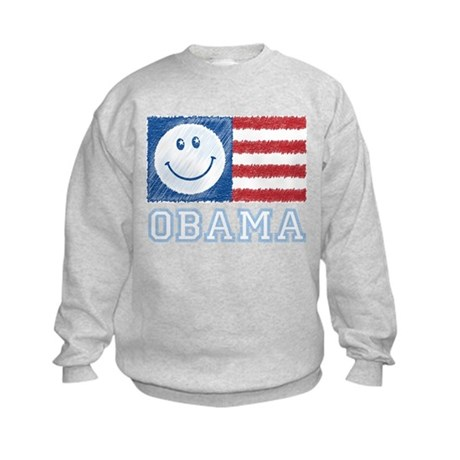 Obama Smiley Flag Kids Sweatshirt