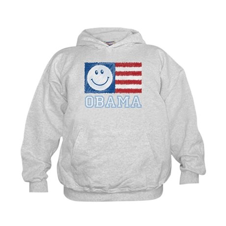 Obama Smiley Flag Kids Hoodie