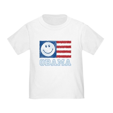 Obama Smiley Flag Toddler T-Shirt