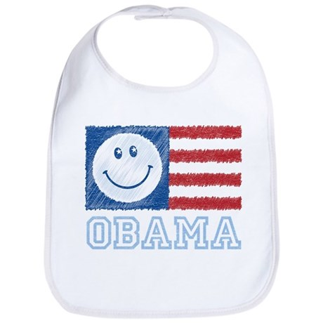 Obama Smiley Flag Bib