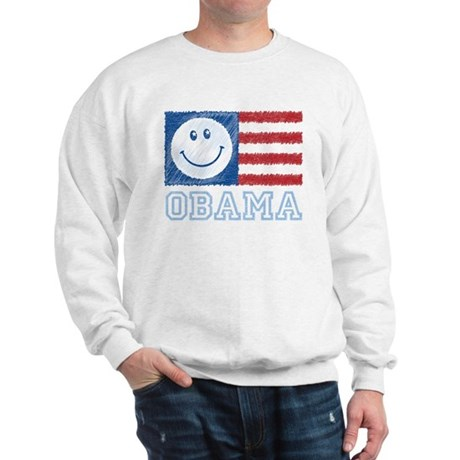 Obama Smiley Flag Sweatshirt