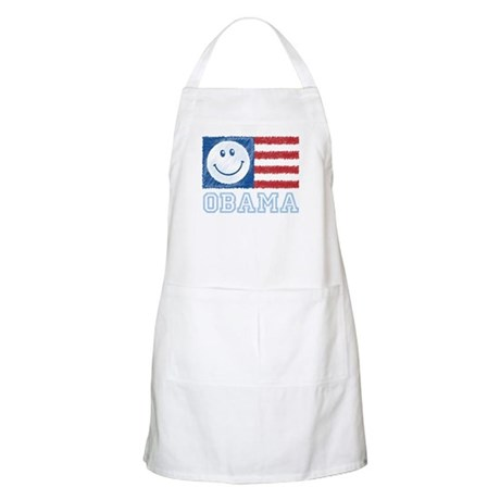 Obama Smiley Flag BBQ Apron
