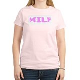 MILF Women's Pink T-Shirt
