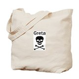 Greta (skull-pirate) Tote Bag