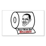 """Help Wipe Out Bullshit (Obama)"" Decal"