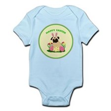 Easter Bunny Pug 2 Infant Bodysuit