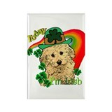 St. Patty Labradoodle Rectangle Magnet (10 pack)