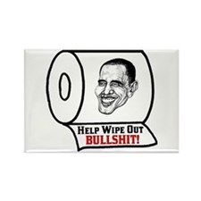 """Help Wipe Out Bullshit (Obama)"" Magnet"