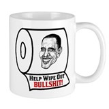 """Help Wipe Out Bullshit (Obama)"" Mug"