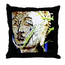 The Face of Buddha Throw Pillow