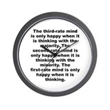 Milne quote Wall Clock