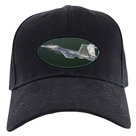 F/A-22 Raptor Black Cap military gift idea