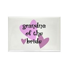 Grandma of the Bride Rectangle Magnet