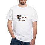 Cancer Bites White T-Shirt
