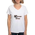 Cancer Bites Women's V-Neck T-Shirt