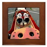 Cute Boat regattas Framed Tile