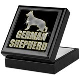 Bling German Shepherd Keepsake Box