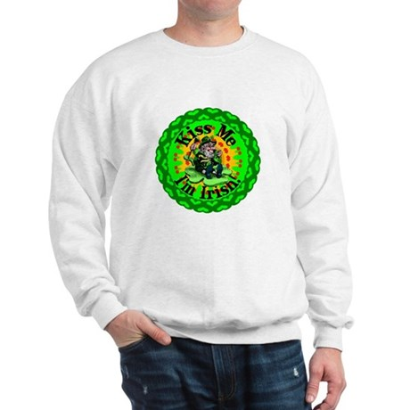 Kiss Me Irish Leprechaun Sweatshirt