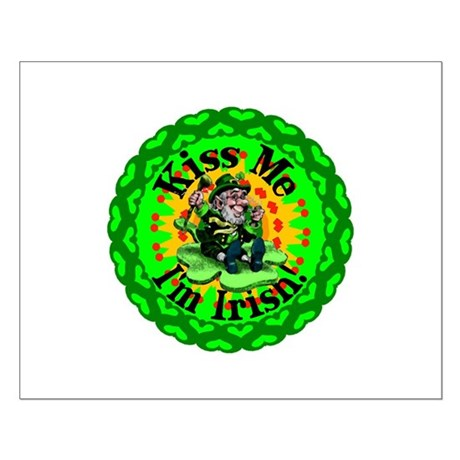 Kiss Me Irish Leprechaun Small Poster