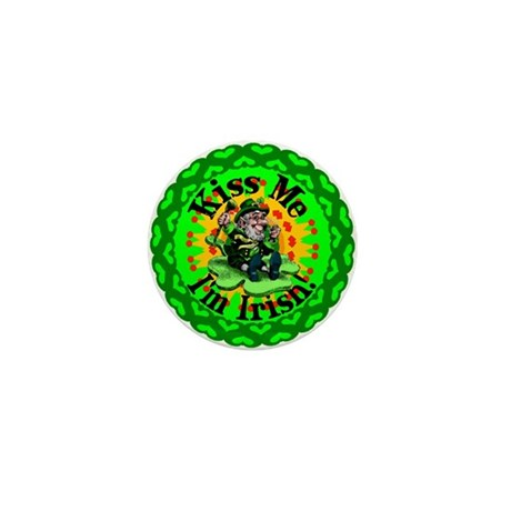 Kiss Me Irish Leprechaun Mini Button (100 pack)