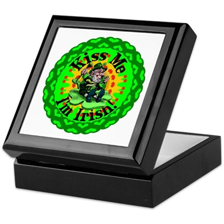 Kiss Me Irish Leprechaun Keepsake Box