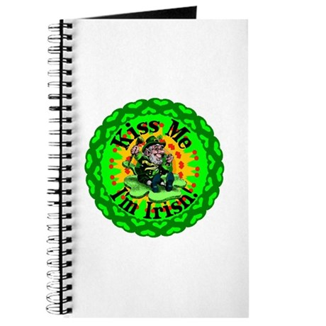 Kiss Me Irish Leprechaun Journal