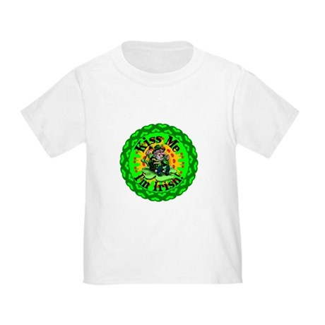 Kiss Me Irish Leprechaun Toddler T-Shirt