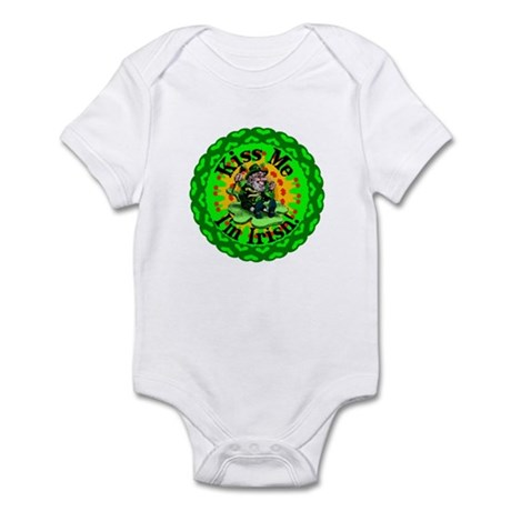 Kiss Me Irish Leprechaun Infant Bodysuit